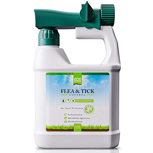 Eco Defense Flea, Tick, and Mosquito Spray for Yard and Perimeter - Safe Around Kids, Pets, Plants - Outdoor Barrier Control & Repellent - Ready-to-Spray Covers Up to 5,000 sq ft