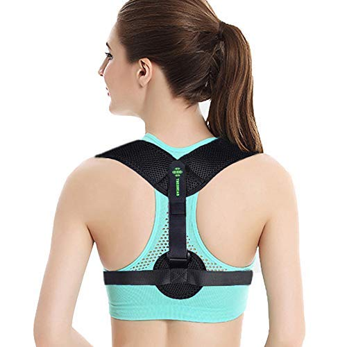 Theoneab Best Posture Corrector for men & Women - Adjustable Back Brace Posture Corrector - Back Support Posture Brace Under Clothes - Medical Kyphosis Trainer for Shoulder Neck Pain Relief