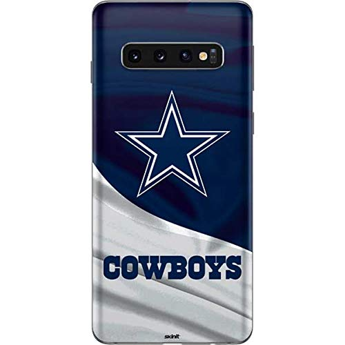 Cowboys Phone Case Cell - Skinit Dallas Cowboys Galaxy S10 Skin - Officially Licensed NFL Phone Decal - Ultra Thin, Lightweight Vinyl Decal Protection