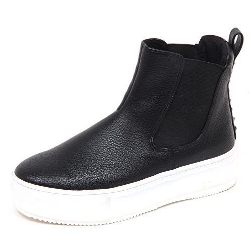 E5344 Gaudi Shoe Donna Ecopelle Sneaker Nero Woman Scarpe Ecoleather 7ddq1x