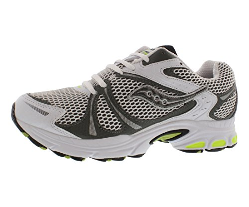Saucony Progrid Twister Men's Running Shoes Size US 13, Regular Width, Color White/Silver (Size 13 Mens Saucony)