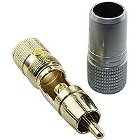 Yong Wei RCA free solder male plug head head AV head coaxial audio speaker audio line connector ( Color : Red )