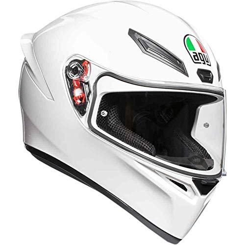 AGV Unisex-Adult Full Face K-1 Motorcycle Helmet (White, Large) ()
