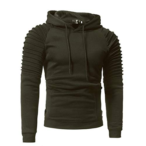 kaifongfu Hooded Tops,Men Hoodies Top Blouse Tracksuits for Autumn Winter(Army Greem,XL)