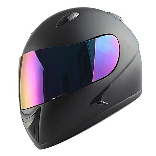 1Storm Motorcycle Street Bike BMX MX Youth Kids Full Face Helmet Matt Black