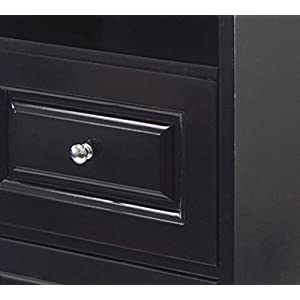 Winsome Alps Tall Cabinet with Glass Door and Drawer
