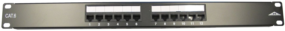 Allen Tel Products AT66-PNL-12 12 Ports, 568A / 568B Wiring, 1 Rack Unit, 110 Termination Category 6 Patch Panel