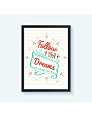 Framed Inspirational Quotes Wall Decor For Home and Office 40 cm x 30 cm
