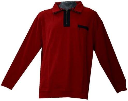 TALLA 5XL. GREYSTONE Sudadera/Jersey 4x l 5x l übergröße Rojo con Jersey Cuello