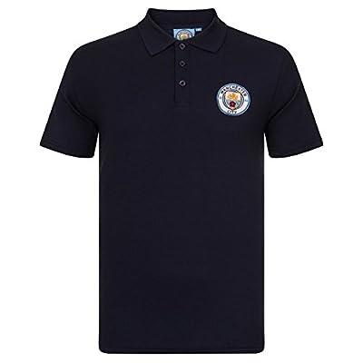 Manchester City FC Football Soccer Official Gift Mens Crest Polo Shirt