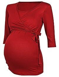 Happy Mama. Womens Maternity Nursing 2in1 Bolero Top Shirt 3/4 Sleeve. 458p