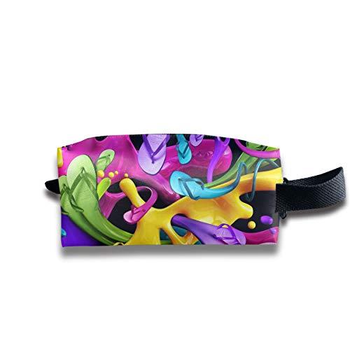 Clash Durable Zipper Wallet Makeup Handbag With Wrist Band Unusual Color Toiletry -