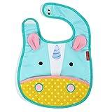 Skip Hop Zoo Little Kid and Toddler Tuck-Away Water Resistant Baby Bib, Multi Eureka Unicorn