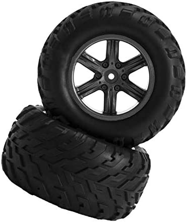 RCカータイヤ ゴムタイヤ ホイールハブ 1:12 RCモンスタートラック用 全2サイズ - 01