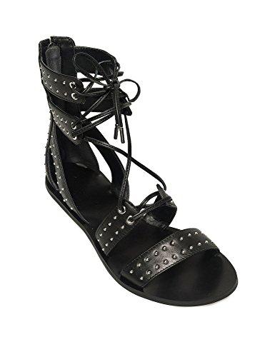 Og Tie Sandaler Kendall Kylie Svart Detalj Gladiator Fabia dgBqBt