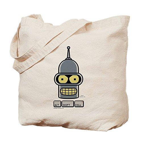 CafePress - Futurama Alt Shift Kill - Natural Canvas Tote Bag, Cloth Shopping Bag