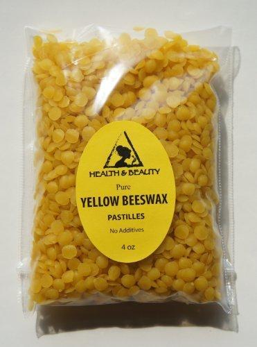 Amarillo orgánico de Abeja cera de abejas pura pastillas barbas 113,4 G