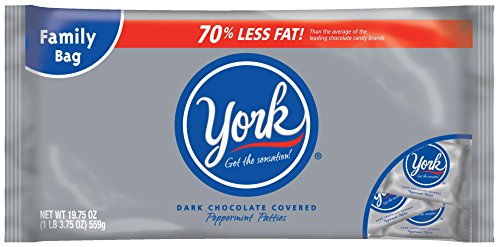 YORK Peppermint Patties Miniatures (Gluten-Free Dark Chocolate Covered Mint Candy),19.75 Ounce Bag (Pack of (Chocolate Covered Peppermint Patties)