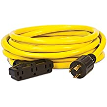 Champion 25-Foot 30-Amp 125-Volt Fan-Style Generator Extension Cord (L5-30P to three 5-20R)