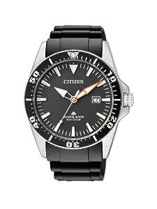 Citizen BN0100-42E - Reloj analógico de cuarzo para hombre, correa de poliuretano color negro