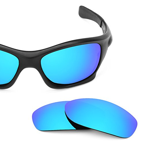 Ice Pit - Revant Polarized Replacement Lenses for Oakley Pit Bull Ice Blue MirrorShield