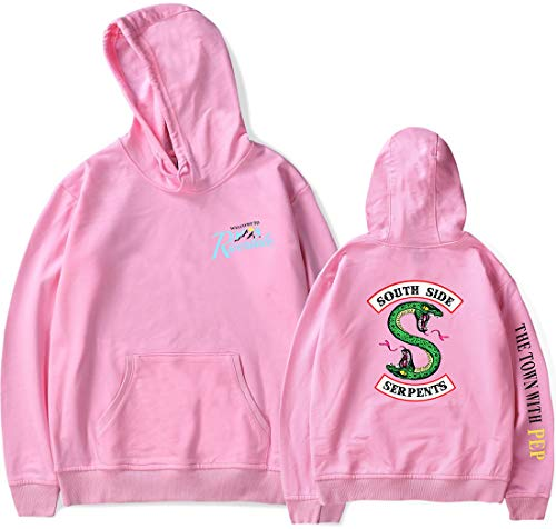 Riverdale Longues Serpent Sweat Side Homme Vallée Rose Manches Pull South Emilyle pT4wf