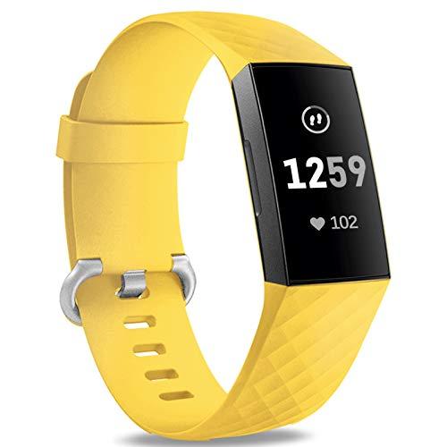 Malla Large para Fitbit Charge 3/4 Amarillo -7Q1NQZ7W