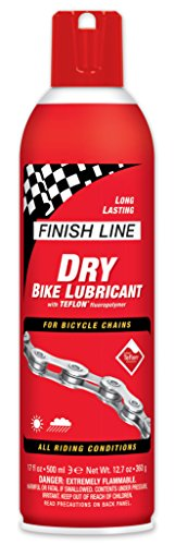 Degreaser Aerosol (Finish Line DRY Bike Lubricant with Teflon (17-Ounce Aerosol))