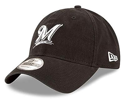 New Era Milwaukee Brewers MLB 9Twenty Core Classic Twill Adjustable Black Hat