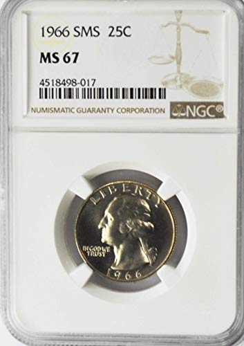 1966 P Washington Quarter AZI13 Gem Uncirculated AZI13 25c SMS MS67 NGC