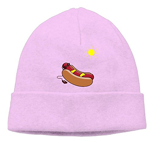 WellShopping Comtic Hot Dog With Sunglasses Custom Printed Plain Skullies Beanie toboggan Hat Unisex Vintage - Custom Sunglasses Printed