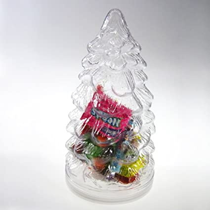44c26fe57c6c Amazon.com: Clear Christmas Snow Tree PVC Jar - Plastic Cookie Jar ...