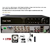 Camvtech Usa New High-End 1080P 8 Channel Mix mode Analog/AHD/TVI,CVI 960Hx720Px960Px1080P 1sata up to 6TB, Motion Detect, Plug&Play HDD 1TB INCLUDED