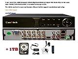 Cheap Camvtech Usa New High-End 1080P Mix mode Analog/AHD/TVI,CVI 960Hx720Px960Px1080P 1sata up to 6TB, Motion Detect, Plug&Play HDD 1TB INCLUDED