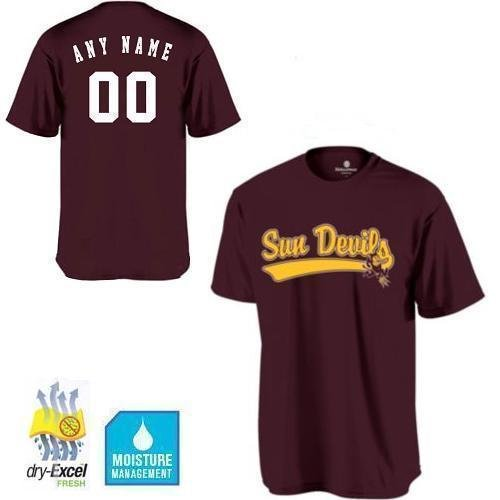 - Adult Large ASU/Arizona State Sun Devils CUSTOMIZED Crewneck Cool-Base Wicking dry-Excel NCAA Officially Licensed Replica Jersey Shirt
