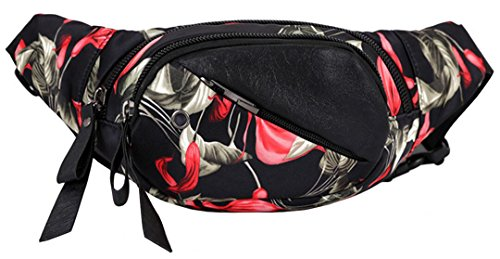 OrrinSports Fashion Waist Pack Chic Fanny Pack for Travelling and Leisure Occasion Red