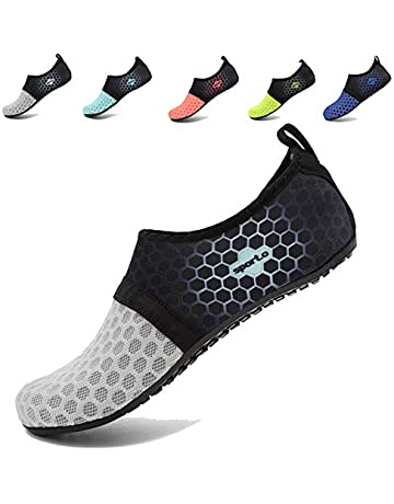 98d62155a1bb AoSiFu Barefoot Water Shoes Aqua Socks Surf Pool Yoga Beach Swim Exercise  for Mens and Womens