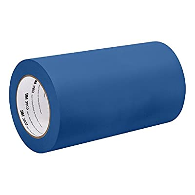 """3M Blue Vinyl/Rubber Adhesive Duct Tape 3903, 6-50-3903-BLUE 12.6 psi Tensile Strength, 50 yd. Length, 6"""" Width from 3M"""