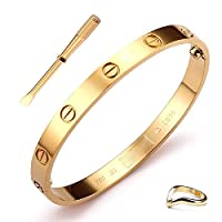 GSG 9 Classic Mens Womens Screw Bangle Wide 6mm Bracelet Size 6.5-7.5
