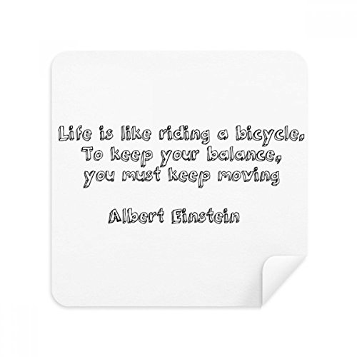 Inspirational Quote About Life By Albert Einstein Glasses Cleaning Cloth Phone Screen Cleaner Suede Fabric 2pcs -