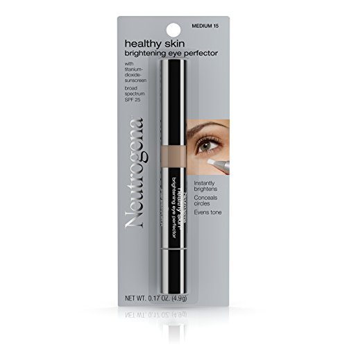 Neutrogena Healthy Skin Brightening Eye Perfector Broad Spectrum Spf 25, Under Eye Concealer, Medium 15, .17 Oz.