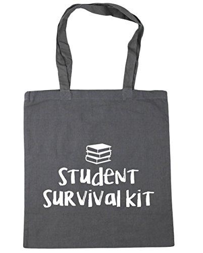 Grey Tote kit Shopping Student Beach survival Gym x38cm Bag HippoWarehouse 10 42cm Graphite litres nCOftqE