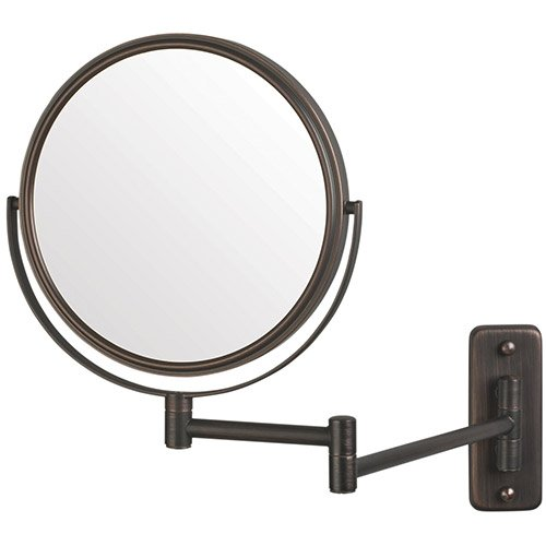 Jerdon 8 Inch Two Sided Swivel Wall Mount Mirror With 5x Magnification 135 Inch Extension