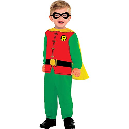 Suit Yourself Classic Robin Halloween Costume for Babies, Batman, 6-12M, with Included Accessories