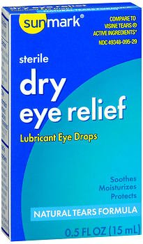 Sunmark Dry Eye Relief, Lubricant Drops - 0.5 fl oz, Pack of 2