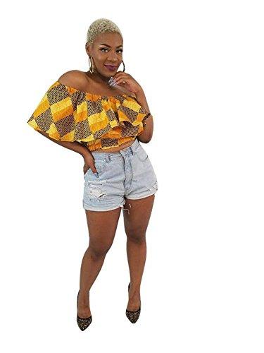 Lola African print off-shoulder (Halloween Quiz Print Off)