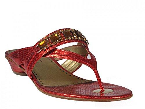Desideri 9190 Women Italian Leather Dressy Flat Sandals ZgPLEmZ