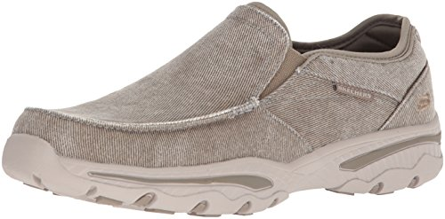 Skechers Men's Relaxed Fit-Creston-Moseco Moccasin, Taupe, 12 M US