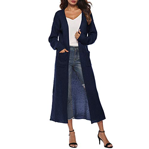 URIBAKE ❤️ Women's Knitted Cardigan Long Open Front Casual Ladies's Pocket Cape Coat Blouse Outerwear -