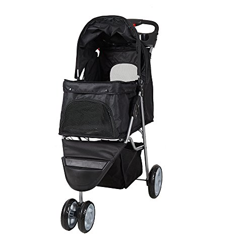 Lucky Tree Pet Stroller Folding Dog Cat Carrier Travel Cart, Multiple Colors For Sale